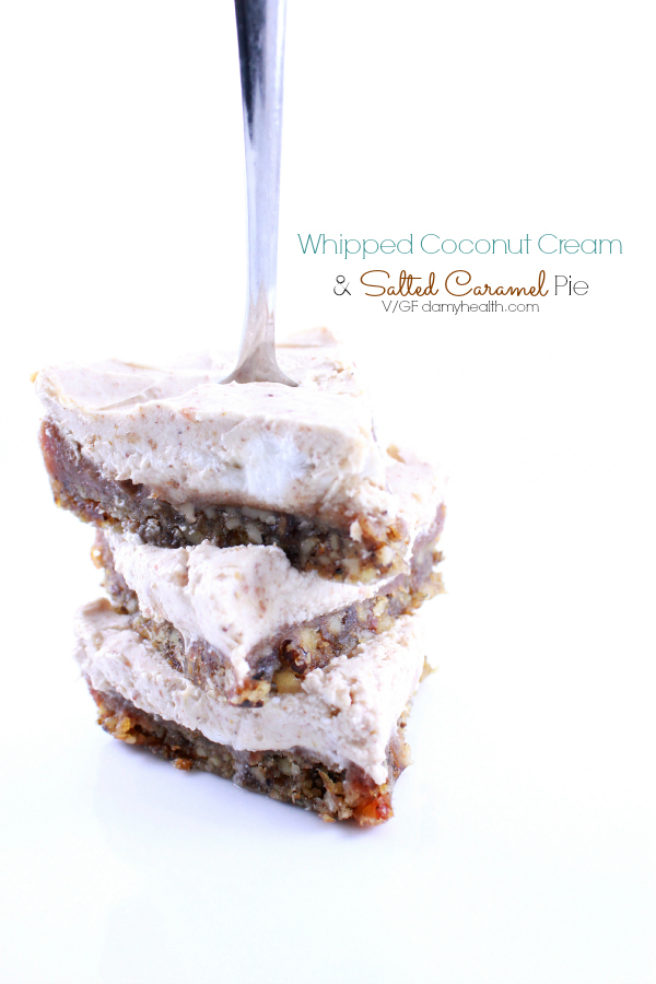 Whipped Coconut Cream & Salted Caramel Pie
