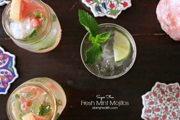 Skinny Fresh Mint & Lime Mojitos