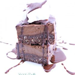 double chocolate fudge slice