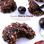 Chocolate Cherry Chunk Coconut Cookies