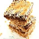 Healthy Chocolate Fudge Oat Bars