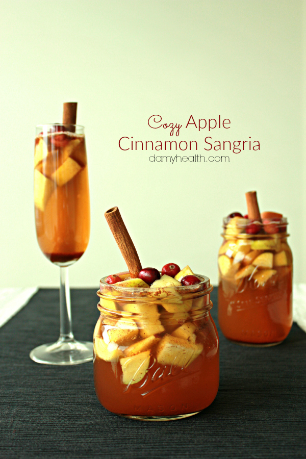 Cozy Apple Cinnamon Sangria