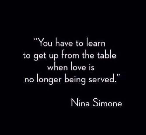 When love is no longer served