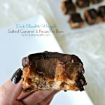Dark Chocolate Wrapped Salted Caramel & Pecan Pie Bars
