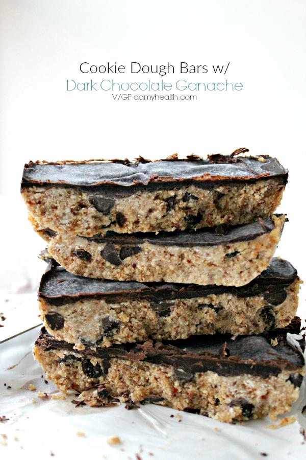 Cookie Dough Bars with Dark Chocolate Ganache
