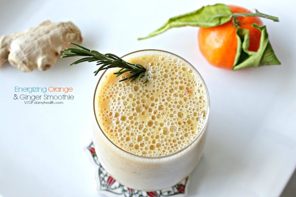 Energizing Orange & Ginger Smoothie
