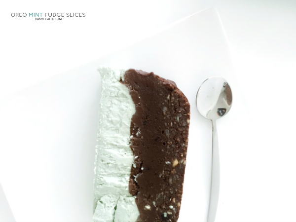 Oreo Mint Fudge Slices – #‎raw‬ ‪#‎vegan‬ & possibly my favorite treat ever.