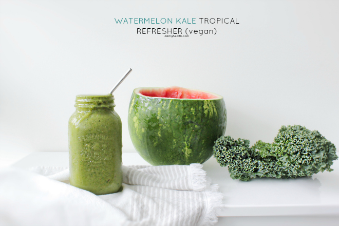 Green Kale Watermelon Smooothie