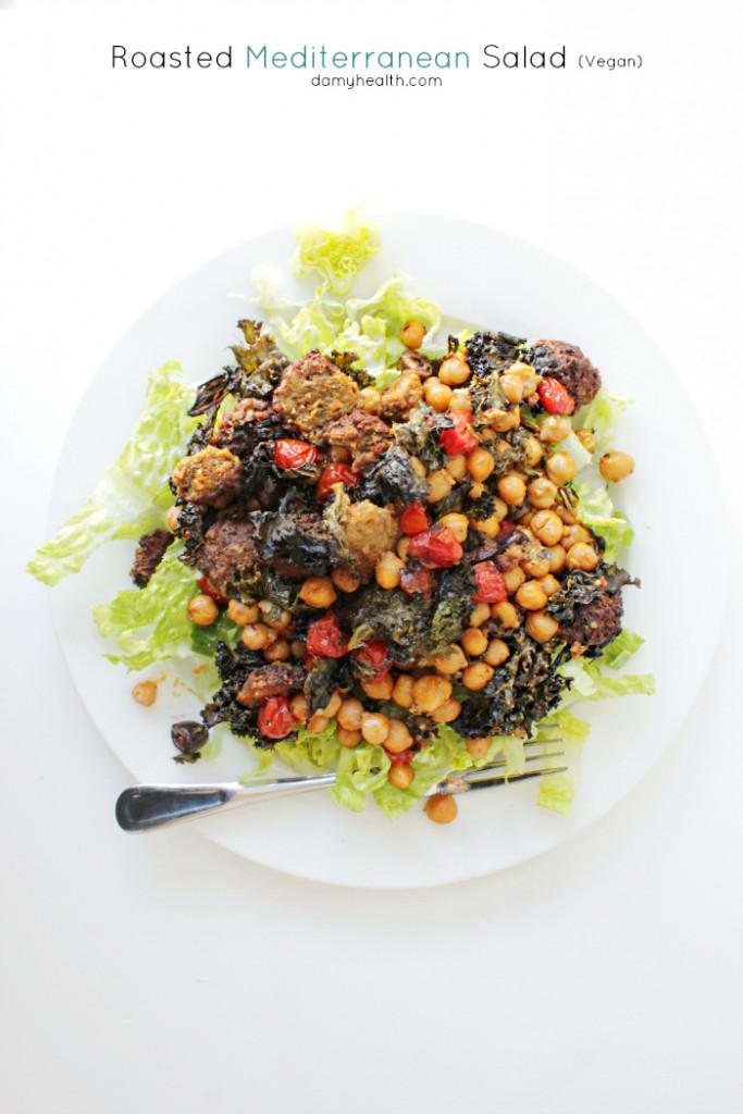 Roasted Mediterranean Salad (Vegan)