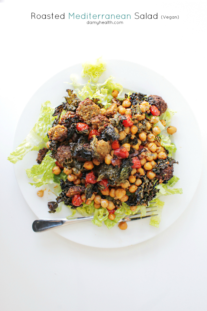 Roasted Mediterranean Salad (Vegan)