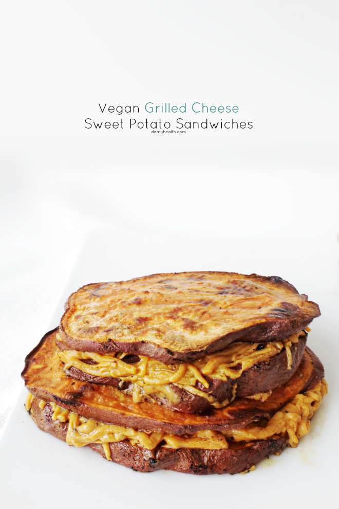 Vegan Grilled Cheese Potato Sandwiches