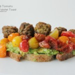 Roasted Tomato Avocado Falafel Toast