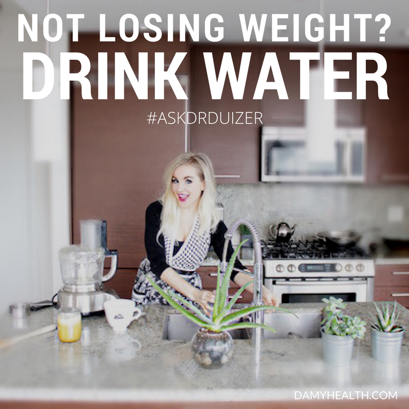 Not losing weight? Try drinking more water