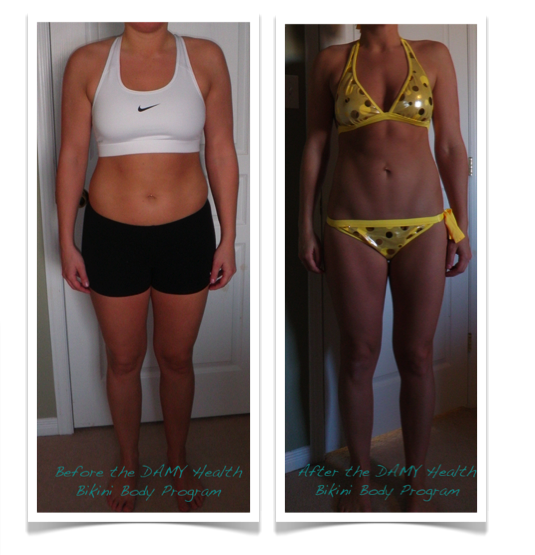 J Before and After the Bikini Body Program by Amy Layne