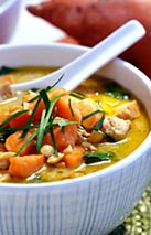 Thai Sweet Potato and Chicken Soup