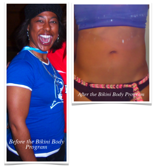 Sonjas before and after her Bikini Body Program Weight Loss Success
