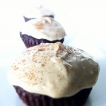 Skinny Dark Chocolate Cupcakes with Cream Cheese Icing