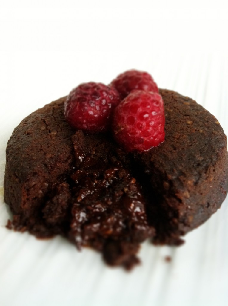 Chocolate lava cakes