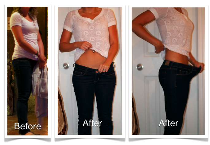 Kristen Before and After Bikini Body Program 1