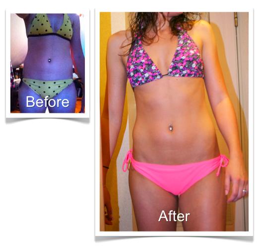 Kristen Before and After Bikini Body Program 2