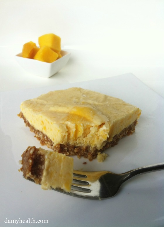 Healthy Mango Cheesecake