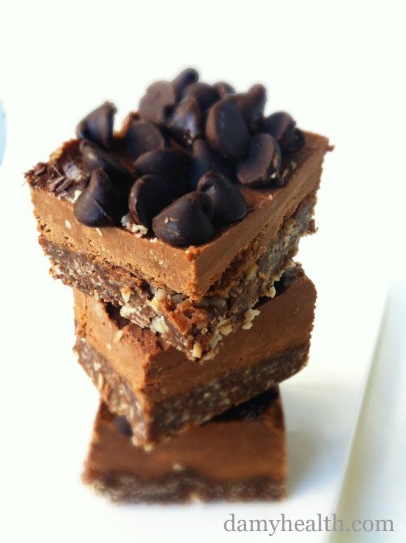no bake chocolate vegan squares