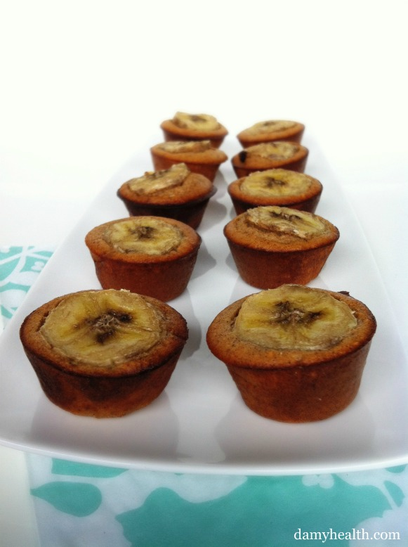 Two Bite Chocolate Chip Banana Protein Muffins