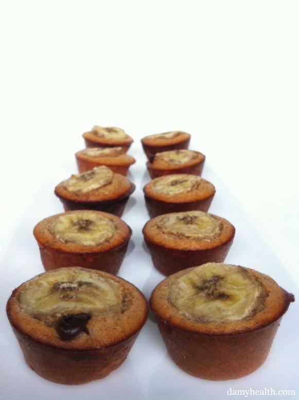 2 Bite Banana Chocolate Chip Muffins
