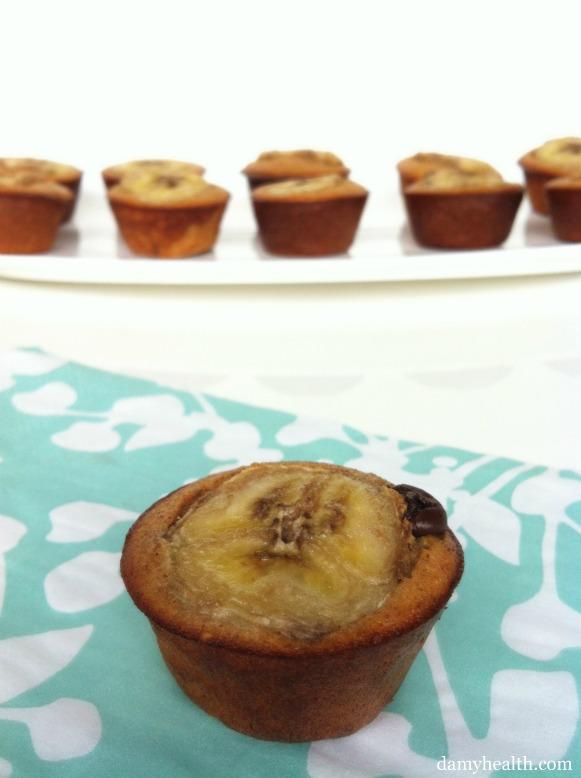 2 Bite Banana Chocolate Chip Protein Muffins