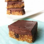 Chocolate Ganache Cookie Dough Squares