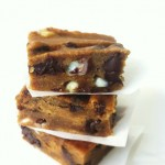 Flourless Chocolate Chip Blondie Brownies