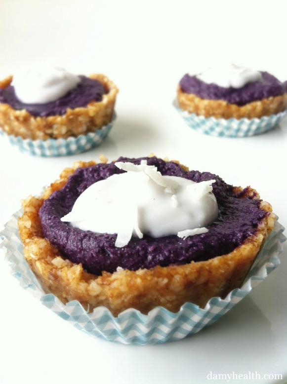 Raw Blueberry Pie