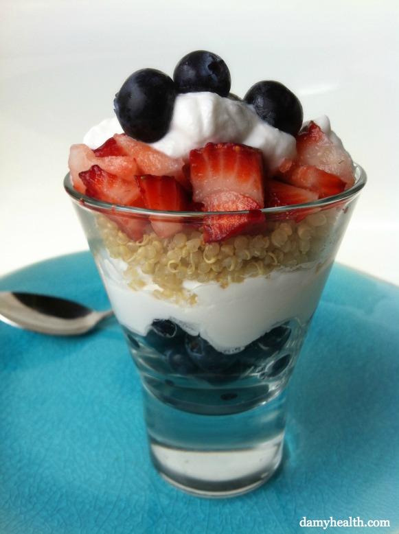 Layered Berry Quinoa Parfait