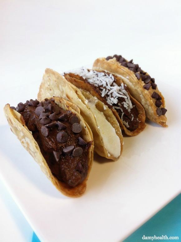 Healthy Chocolate Tacos