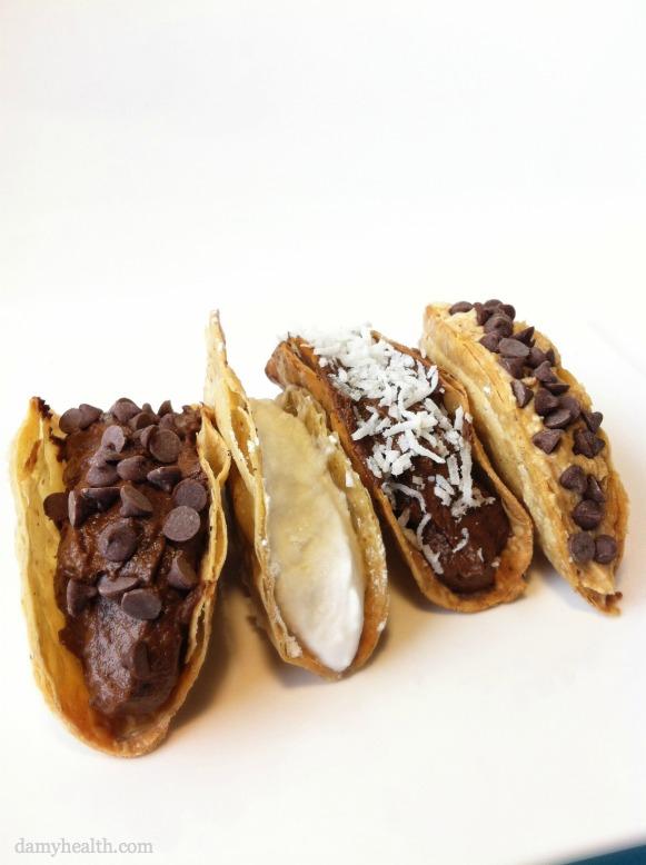 Healthy Vegan Chocolate DessertTacos