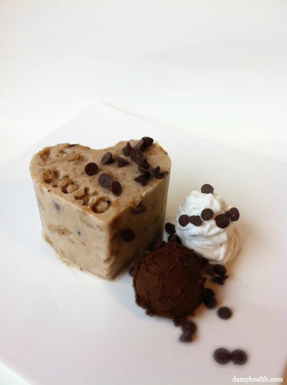 Vegan Cookie Dough blizzard cake
