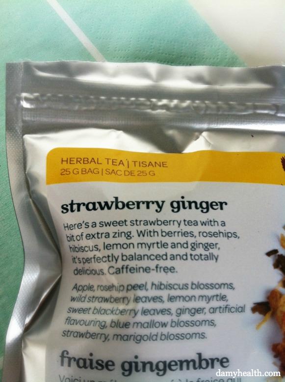 Davids Tea Strawberry Ginger