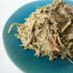 Raw Zucchini Pasta Alfredo