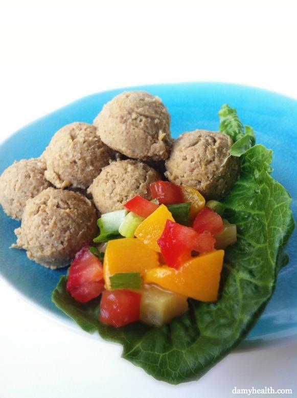 Raw Vegan Falafel and Mango Chutney