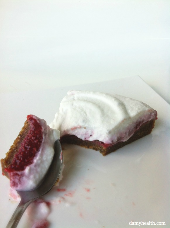 Vegan Raspberry Super Food Short Cake