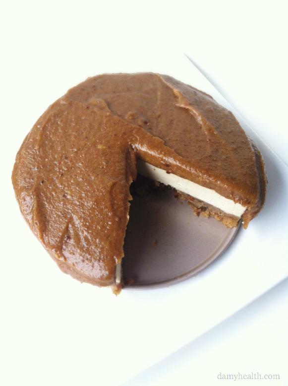 Caramel Blondie Brownie Cheesecake