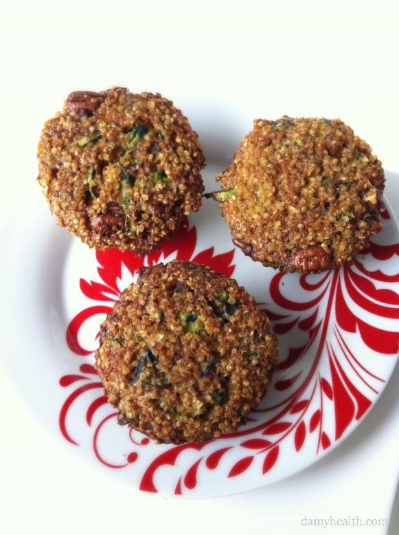 Gluten-free Zucchini Nut Quinoa Muffins