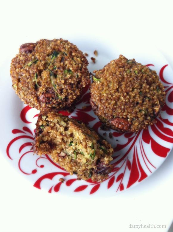 Healthy Zucchini Nut Quinoa Muffins