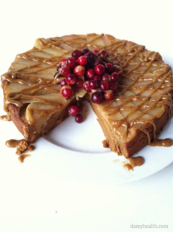 Clean Caramel Apple Upsidedown Cake