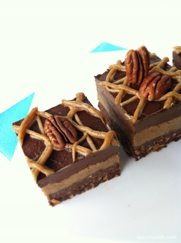 Raw Chocolate Pecan Pie Brownie