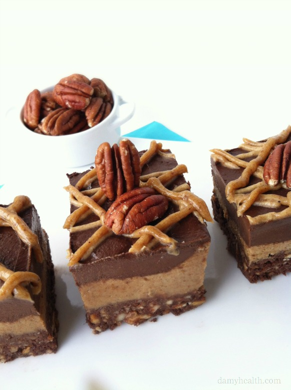 Raw Chocolate Pecan Pie Brownies