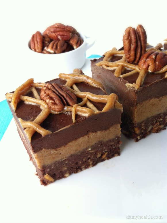 Raw Salted Chocolate Pecan Pie Brownie