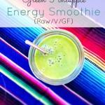 Green Pineapple Energy Smoothie (Raw/V/GF)