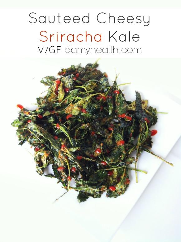 Sauteed Cheesy Sriracha Kale