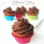 "Vegan Vanilla Cupcakes w/ Rich Chocolate Fudge ""Buttercream"" Frosting"
